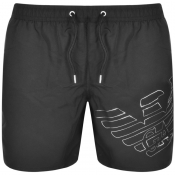 Emporio Armani Logo Swim Shorts Black