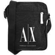 Armani Exchange Logo Shoulder Bag Black