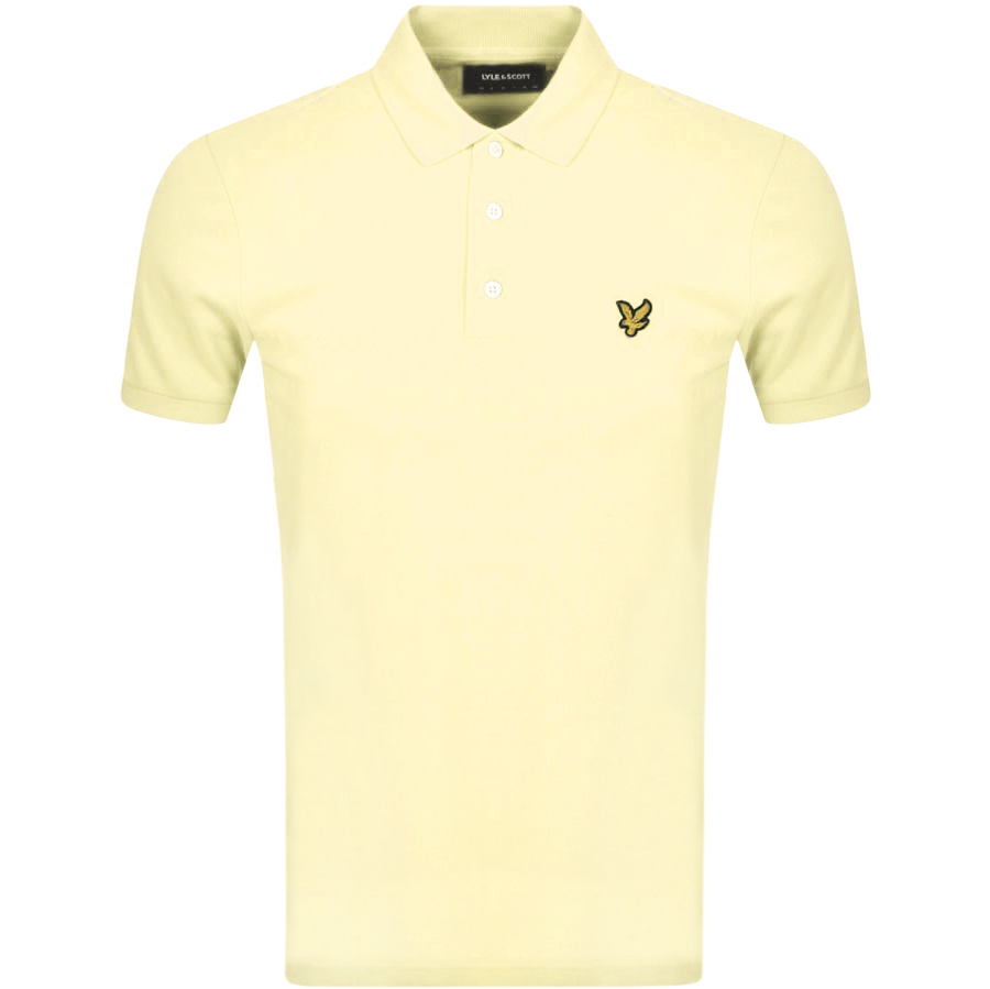 Lyle And Scott Short Sleeved Polo T Shirt Yellow