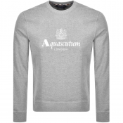 Aquascutum Waterfield Crew Neck Sweatshirt Grey