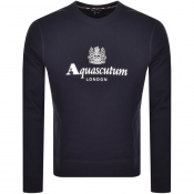 Aquascutum Waterfield Crew Neck Sweatshirt Navy