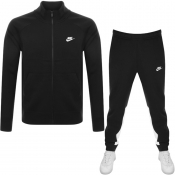 Nike Standard Fit Fleece Tracksuit Black
