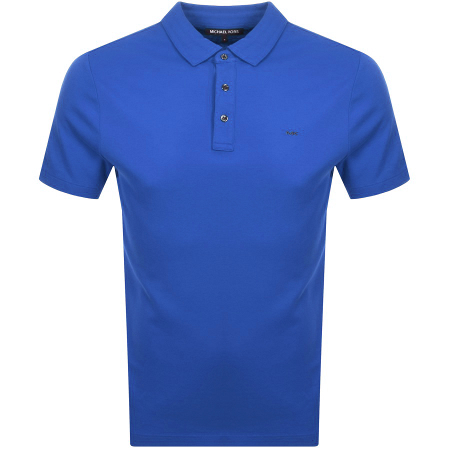 Michael Kors Sleek Polo T Shirt Blue