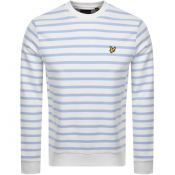 Lyle And Scott Breton Stripe Sweatshirt Blue