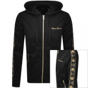 Moose Knuckles Full Zip Beltline Hoodie Black