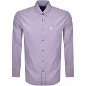 Fred Perry Overdyed Long Sleeve Shirt Purple