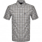 Fred Perry Small Check Shirt Green
