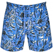BOSS Leaffish Swim Shorts Blue