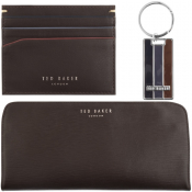 Ted Baker Swandle Card Holder Gift Set Brown