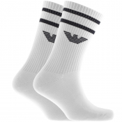 Emporio Armani 2 Pack Socks White