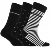 Emporio Armani 3 Pack Sock Gift Set Black