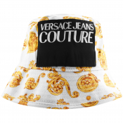 Versace Jeans Couture Logo Bucket Hat White