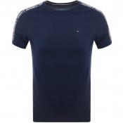 Tommy Hilfiger Loungewear Taped T Shirt Navy