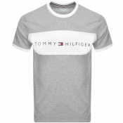 Tommy Hilfiger Lounge Logo Flag T Shirt Grey
