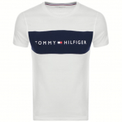 Tommy Hilfiger Lounge Logo Flag T Shirt White