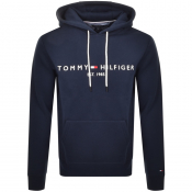 Tommy Hilfiger Logo Pullover Hoodie Navy