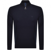 Barbour Half Zip Knit Jumper Navy