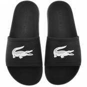 Lacoste Croco Sliders Black