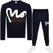 Money Crew Neck Logo Tracksuit Navy