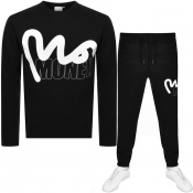 Money Crew Neck Logo Tracksuit Black