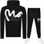Money Hooded Logo Tracksuit Black