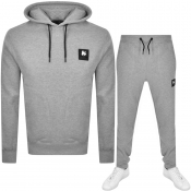 Money Crew Neck Logo Tracksuit Grey