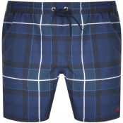 Barbour Tartan Swim Shorts Navy