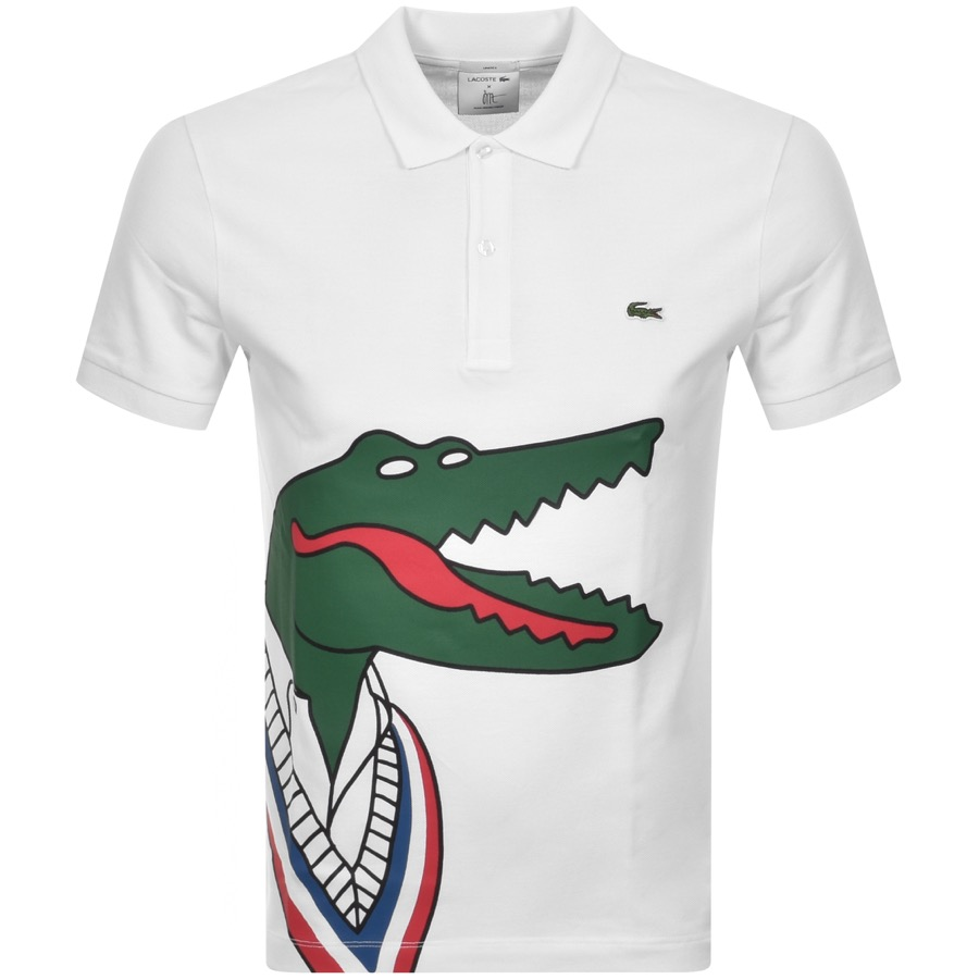 Lacoste X JMT Short Sleeved Polo T Shirt White