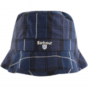 Barbour Tartan Bucket Hat Navy