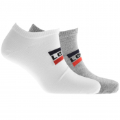 Levis Low Cut 2 Pack Socks White