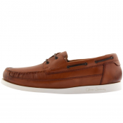 Sweeney London Lufton Boat Shoes Dark Tan Brown