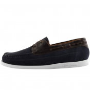 Sweeney London Lufton Boat Shoes Navy