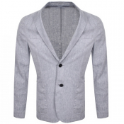 BOSS Hanry 3 Linen Jacket Blue