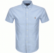 Ralph Lauren Oxford Slim Short Sleeve Shirt Blue