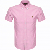 Ralph Lauren Oxford Slim Short Sleeve Shirt Pink