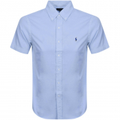 Ralph Lauren Slim Fit Short Sleeve Shirt Blue