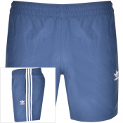 adidas Originals 3 Stripes Swim Shorts Navy