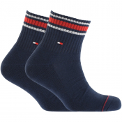 Tommy Hilfiger Two Pack Iconic Socks Navy