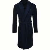 Tommy Hilfiger Loungewear Icon Bath Robe Navy