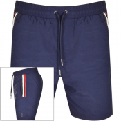 Luke 1977 Caen Striped Detail Swim Shorts Navy