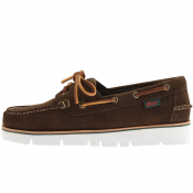 GH Bass Weejun Sportocassin Boat Shoes Brown