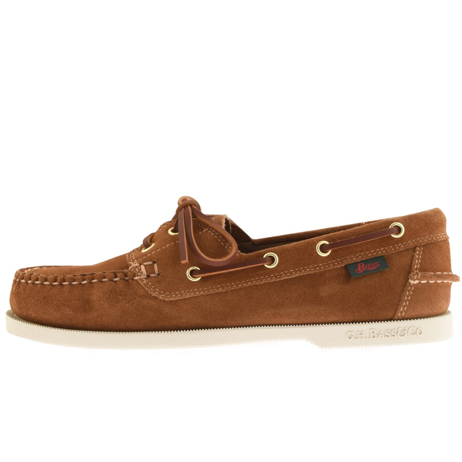 GH Bass Weejun Jetty II Boat Shoes Brown