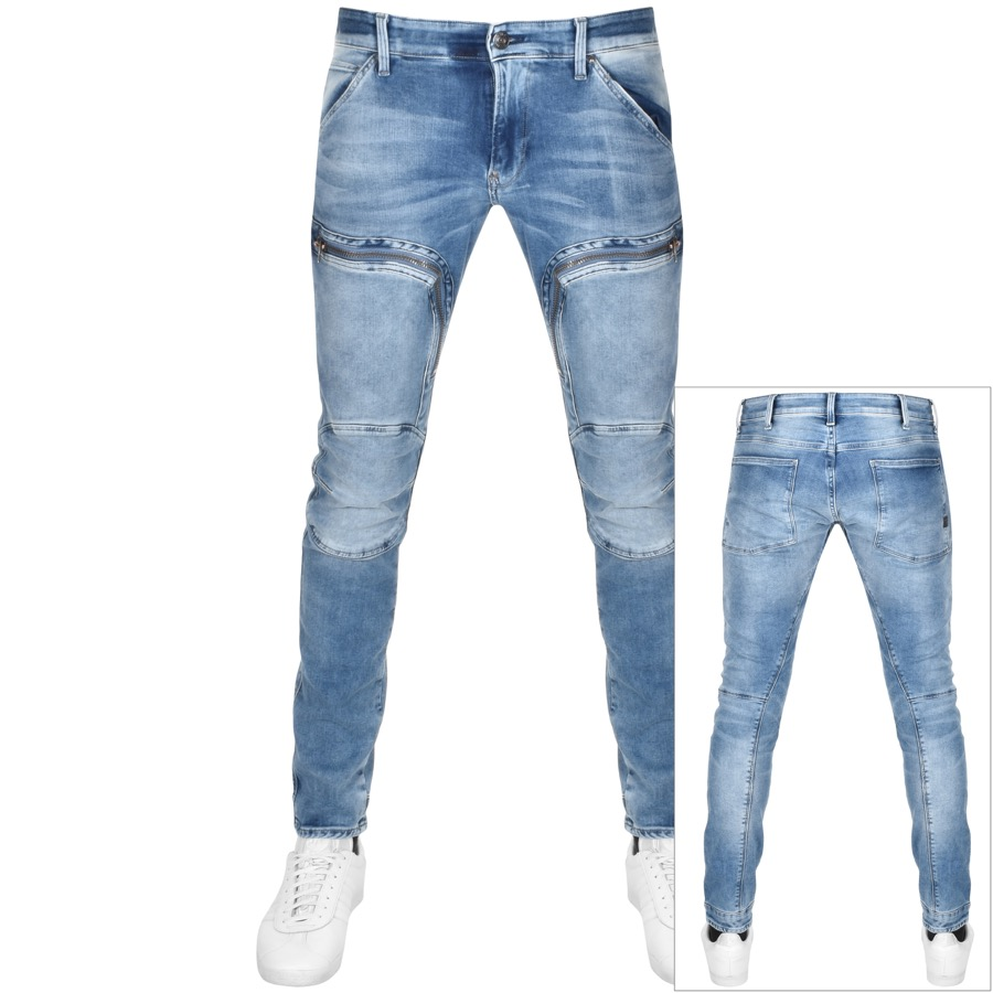 G Star Raw Skinny Airforce Trousers Blue