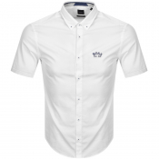 BOSS Biada R Short Sleeved Shirt White