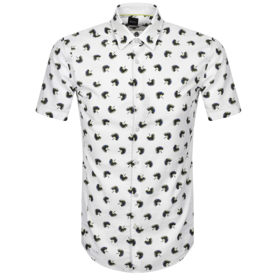 BOSS Ronn Short Sleeved Shirt White