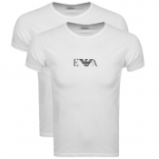 Emporio Armani 2 Pack Lounge T Shirts White