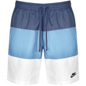 Nike Novelty Logo Swim Shorts Blue