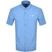 Fred Perry Overdyed Short Sleeve Shirt Blue