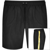 Barbour International Logo Swim Shorts Black