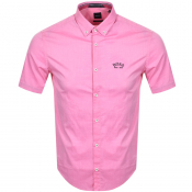 BOSS Biada R Short Sleeved Shirt Pink